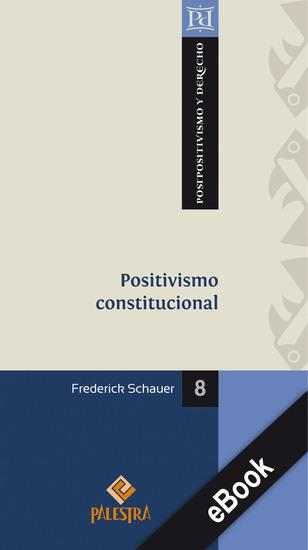 Positivismo constitucional - cover