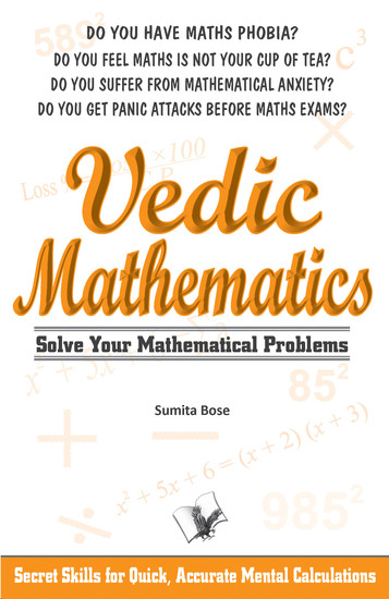 Vedic Mathematics - Secrets skills for quick accurate mental calculations - cover