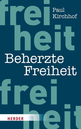 Beherzte Freiheit - cover