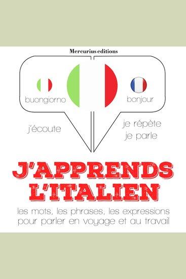 J'apprends l'italien - cover