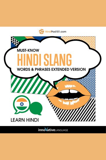 Learn Hindi: Must-Know Hindi Slang Words & Phrases (Extended Version) - cover