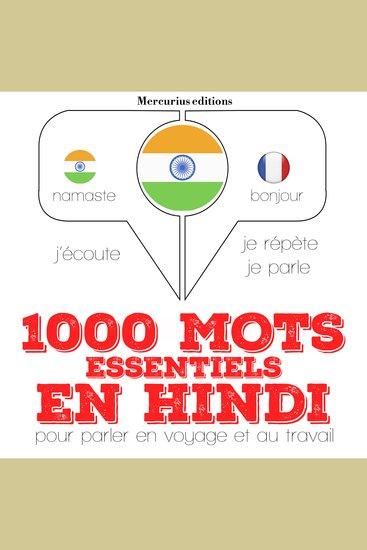 1000 mots essentiels en hindi - cover