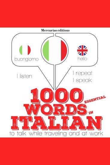 1000 essential words in Italian - cover