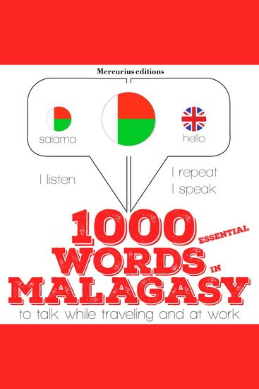 1000 essential words in Malagasy - cover