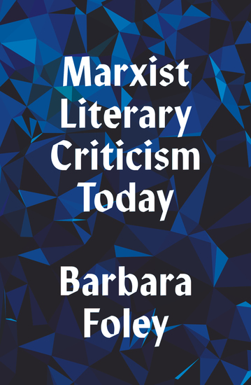 Marxist Literary Criticism Today - cover