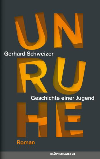 Unruhe - Roman - cover