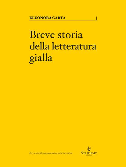 Breve storia della letteratura gialla - cover