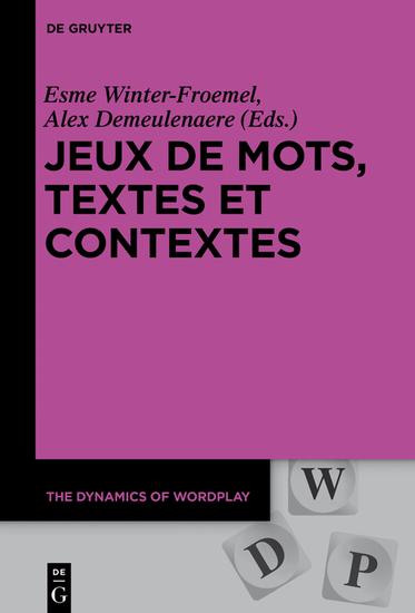 Jeux de mots textes et contextes - cover