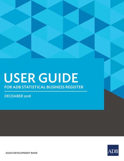 User Guide for ADB Statistical Business Register - cover