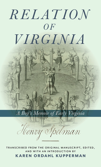 Relation of Virginia - A Boy's Memoir of Life with the Powhatans and the Patawomecks - cover
