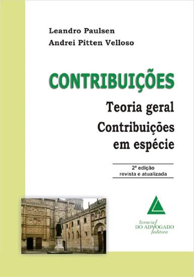 Contribuições Teoria Geral Contribuições Em Espécie - cover