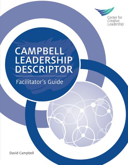 Campbell Leadership Descriptor Facilitator's Guide - cover