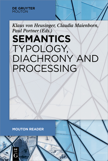 Semantics - Typology Diachrony and Processing - cover