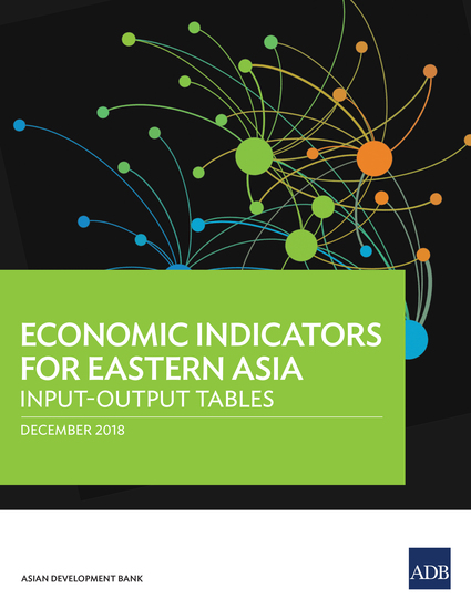 Economic Indicators for Eastern Asia - Input–Output Tables - cover