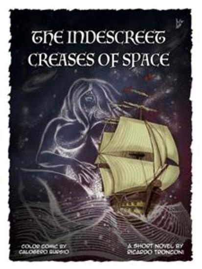 The indescreet creases of space - colored comic and short novel - cover