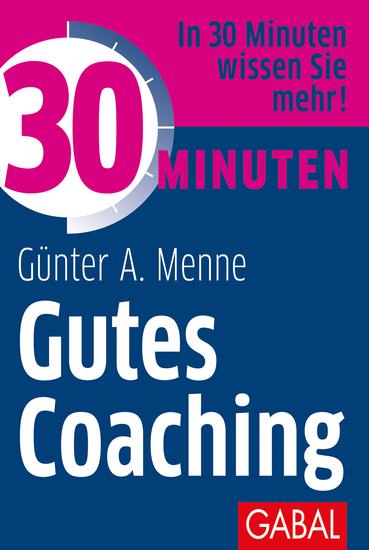 30 Minuten Gutes Coaching - cover