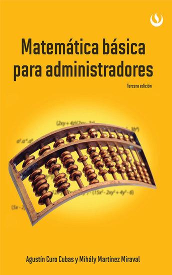 Matemática básica para administradores - Tercera edición - cover