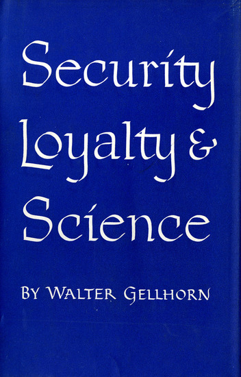 Security Loyalty and Science - cover
