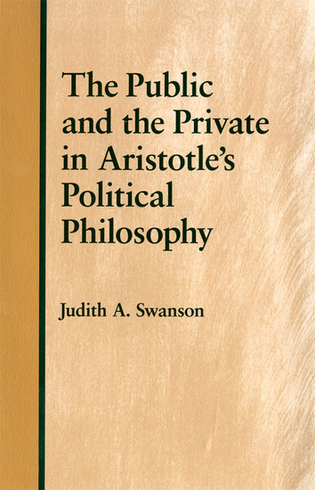 The Public and the Private in Aristotle's Political Philosophy - cover