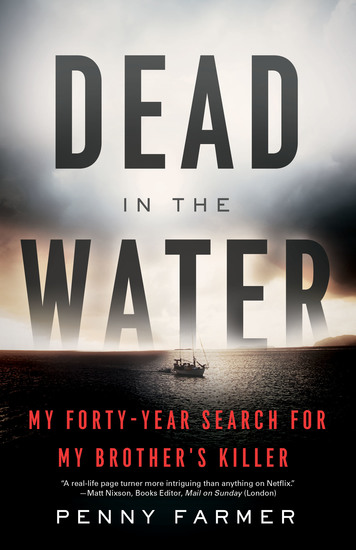 Dead in the Water - My Forty-Year Search for My Brother's Killer - cover