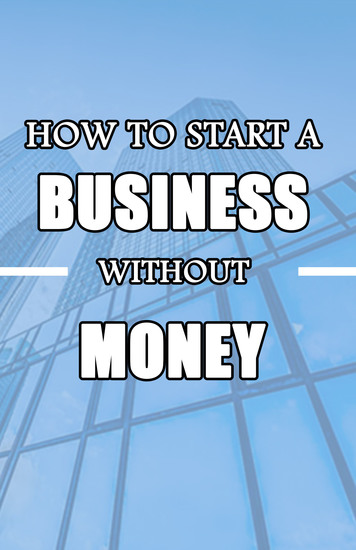 How to Start a Business without Money - cover