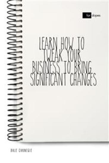 Learn How to Tweak Your Business to Bring Significant Changes - cover