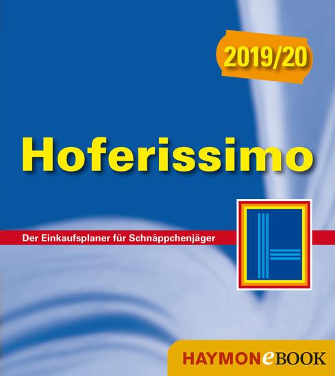 Hoferissimo 2019 20 - Der Einkaufsplaner für Schnäppchenjäger - cover