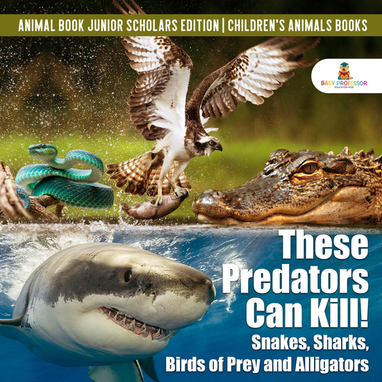 These Predators Can Kill! Snakes Sharks Birds of Prey and Alligators   Animal Book Junior Scholars Edition   Children's Animals Books - cover