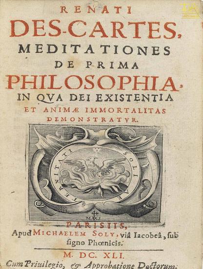 Meditationes de prima philosophia - cover