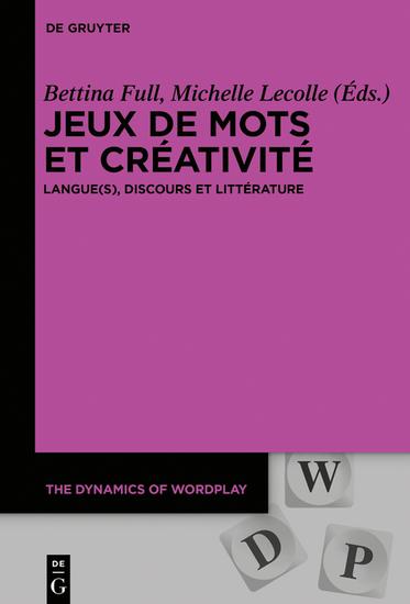 Jeux de mots et créativité - Langue(s) discours et littérature - cover
