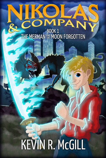 The Merman and The Moon Forgotten - Middle Grade Fantasy Adventure - cover
