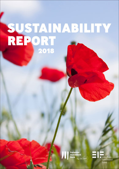 European Investment Bank Group Sustainability Report 2018 - cover