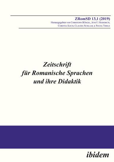 Zeitschrift für Romanische Sprachen und ihre Didaktik - Heft 131 - cover