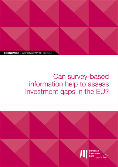 EIB Working Papers 2019 04 - Can survey-based information help to assess investment gaps in the EU? - cover