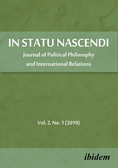 In Statu Nascendi - Journal of Political Philosophy and International Relations 2019 1 - cover