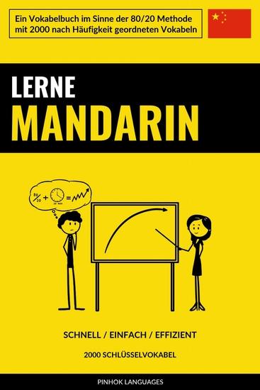 Lerne Mandarin - Schnell Einfach Effizient - 2000 Schlüsselvokabel - cover