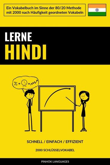 Lerne Hindi - Schnell Einfach Effizient - 2000 Schlüsselvokabel - cover