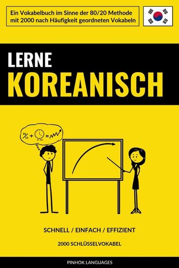 Lerne Koreanisch - Schnell Einfach Effizient - 2000 Schlüsselvokabel - cover