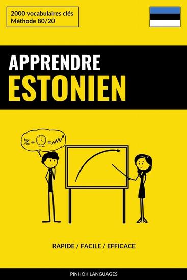 Apprendre l'estonien - Rapide Facile Efficace - 2000 vocabulaires clés - cover