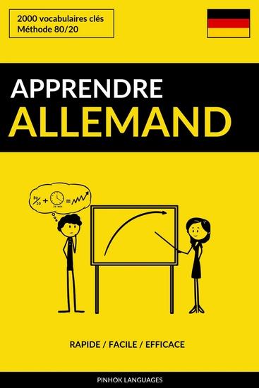 Apprendre l'allemand - Rapide Facile Efficace - 2000 vocabulaires clés - cover