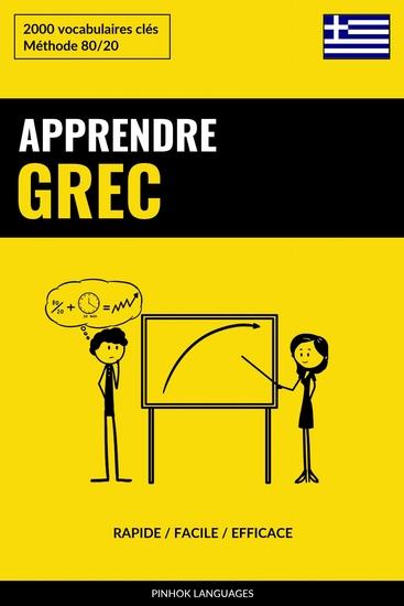 Apprendre le grec - Rapide Facile Efficace - 2000 vocabulaires clés - cover