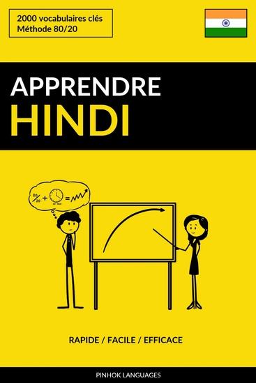 Apprendre l'hindi - Rapide Facile Efficace - 2000 vocabulaires clés - cover
