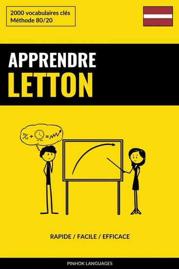 Apprendre le letton - Rapide Facile Efficace - 2000 vocabulaires clés - cover