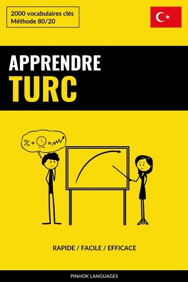 Apprendre le turc - Rapide Facile Efficace - 2000 vocabulaires clés - cover