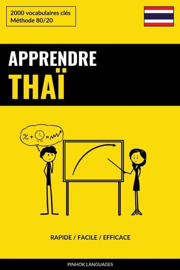 Apprendre le thaï - Rapide Facile Efficace - 2000 vocabulaires clés - cover