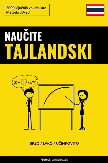 Naučite Tajlandski - Brzo Lako Učinkovito - 2000 ključnih vokabulara - cover