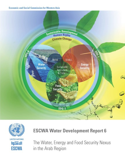 ESCWA Water Development Report 6 - The Water Energy and Food Security Nexus in the Arab Region - cover