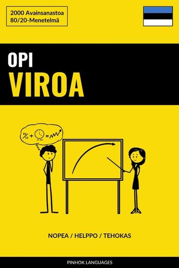Opi Viroa - Nopea Helppo Tehokas - 2000 Avainsanastoa - cover