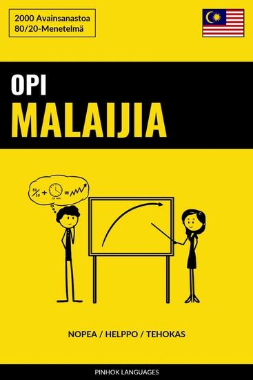 Opi Malaijia - Nopea Helppo Tehokas - 2000 Avainsanastoa - cover