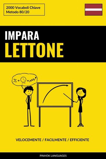 Impara il Lettone - Velocemente Facilmente Efficiente - 2000 Vocaboli Chiave - cover